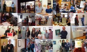 Axe Head Art Exchange participants collage
