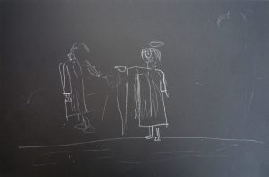 Conceptual Art for the Blind - Jesus Heals the Blind as Drawn by the Blind