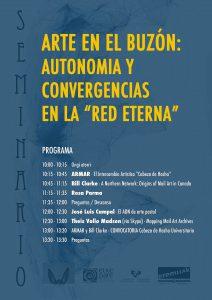 """""""Arte en el buzón"""" conference poster"""