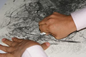Conceptual Art Workshop for the Blind - Erased Drawing Exercise